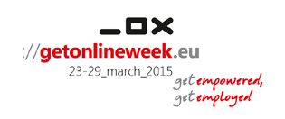 Logo: getonlineweek.eu 23-29 march 2015 - get empowered getemployed