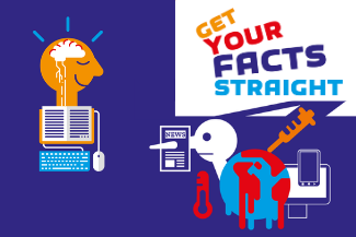 Get Your Facts Straigt! Logo und Grafiken