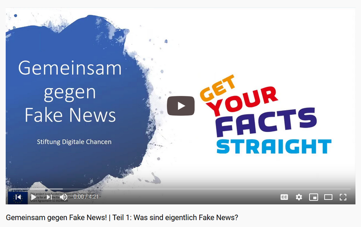 Screenshot Playlist Videos Gemeinsam gegen Fake News! YouTube